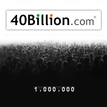 40Billion.com reaches 1 million
