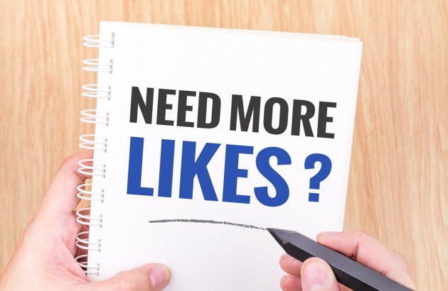 Need more likes ? word on white ring binder notebook